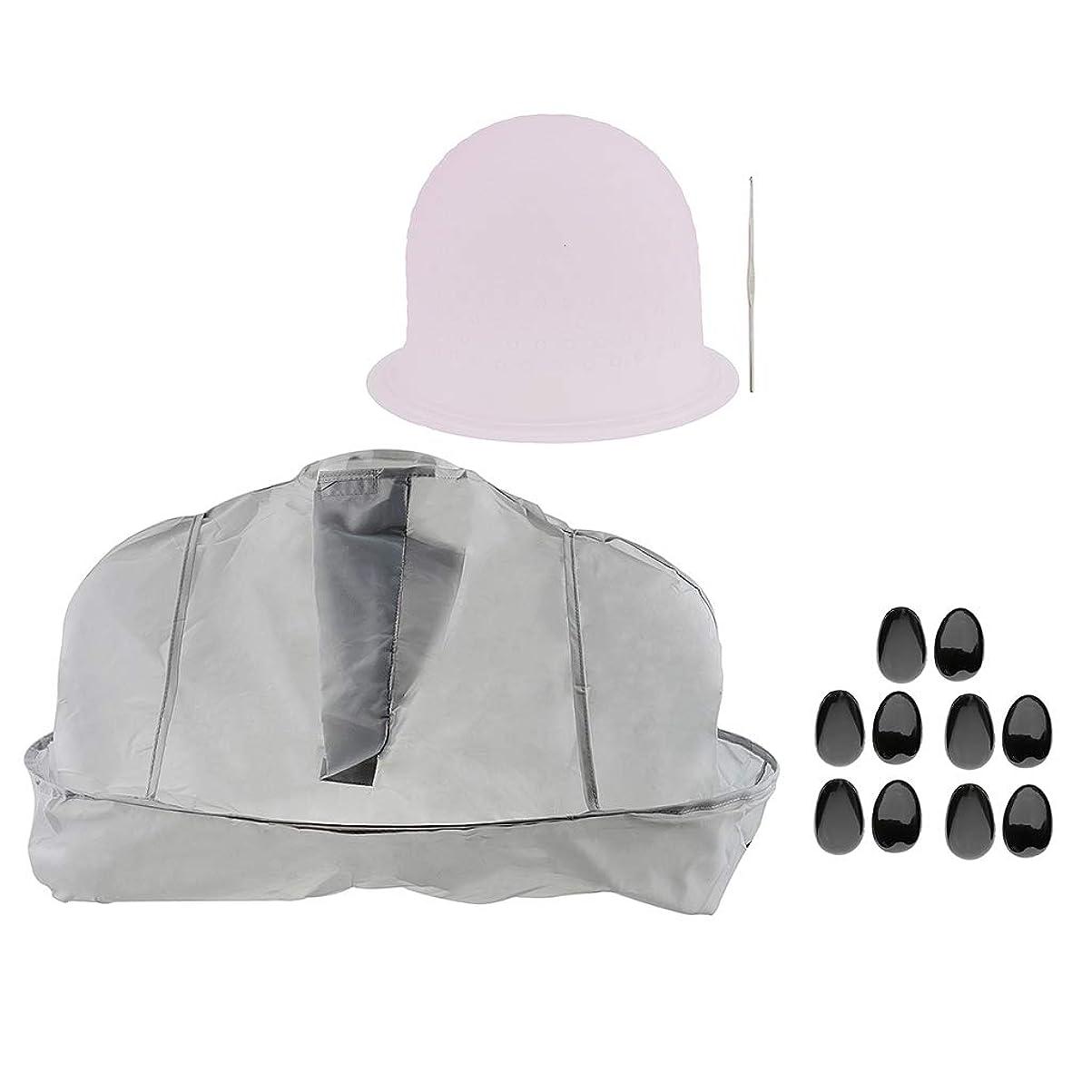 ポケットセットする上昇B Blesiya ヘアサロン 美容院 ヘアカラー 色付け 帽子 キャップ 耳のカバー 美容ケープ