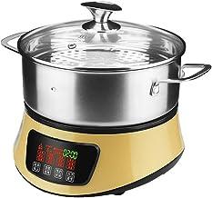 ECSWP Multifonctionnel électrique à vapeur ménages vapeur Hot Pot de grande capacité en acier inoxydable 304 électrique Ho...