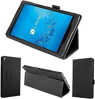 wisers 保護フィルム付 NEC LAVIE Tab S TS508/FAM PC-TS508FAM 8インチ タブレット 専用 木目調 ケース カバー [2017 年 新型] ブラック