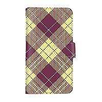 スマ通 Galaxy S9 SC-02K / SCV38 国内生産 カード スマホケース 手帳型 SAMSUNG サムスン ギャラクシー エスナイン 【4-イエロー】 ナチュラル チェック q0004-c0160