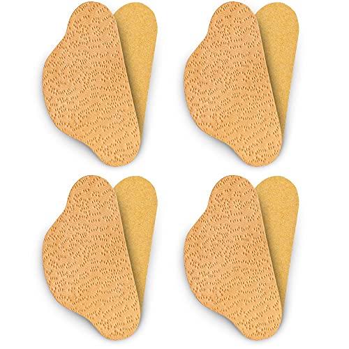 SULPO 4 Paare Leder Fersenschutz Fersenhalter Fersenkissen Fersenpolster Reparatur Schuhe (Pecari Beige)