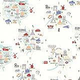 Clothworks Reise-Stoff – London Rom Paris Amsterdam –
