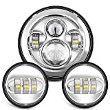 Best Harley Led Headlights - Sunpie 7 Inch Chrome Harley Daymaker LED Headlight+ Review