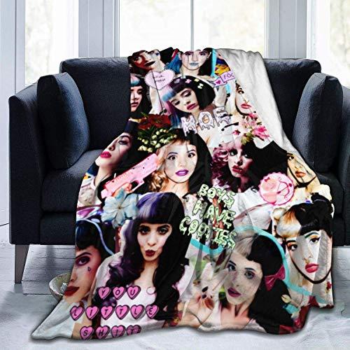 YEIZD Melanie Martinez Blanket Flannel Blanket Fleece Throw Warm Plush Microfiber Blanket All Season Warm Be (50' X 40')(60'X50')(80'X60') 50'x40'-Black-80 x60