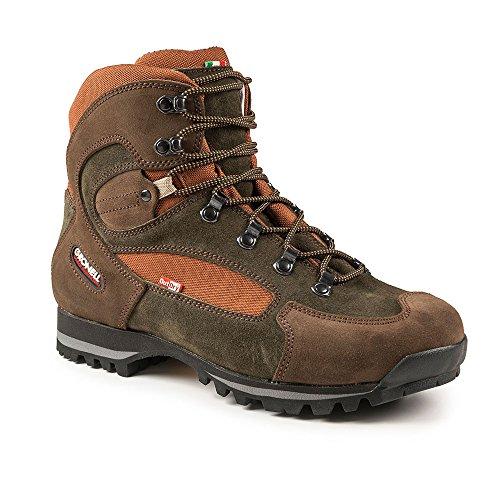 Gronell Kangoo - Scarpe da trekking di ultima generazione, leggere, stabili, impermeabili, suola Vibram, Marrone (marrone/arancione), 41 EU