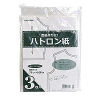 清原 KIYOHARA ハトロン紙 3枚入り 77cm×108cm SEW01