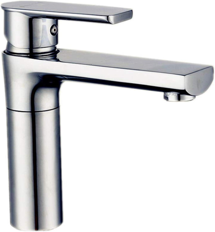 Faucet Mone Spout Basinwash Basin Faucet Bathroom Cabinet Faucet Faucet Basin Single Hole Cold and Hot Copper Plating Faucet