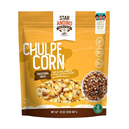 popstir popcorn poppers Star Andino Heritage Chulpe Corn - Traditional Maiz Cancha Peruano - Energy Boost Snack - Toasted Dried Corn Kernels - Low Fat, High Protein, Gluten-Free - Authentic Product of Peru - 2 Pound Bag