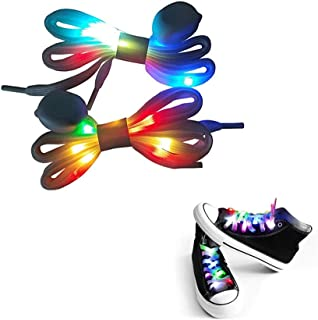 LED Shoelaces Light Up Waterproof Shoes Laces Shoestring for Party Hip-hop Dancing Cycling Hiking Skating Decorations