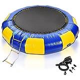 WANXJM Haltbares Wassertrampolin (10') Rundes Aufblasbares Schwimmendes Trampolin Mit 3-Stufiger...
