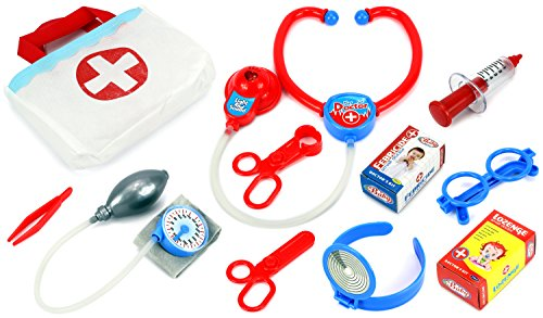 Velocity Toys Ultimate Doctor Children's Kid's Pretend Play Toy Doctor Nurse Set w/ Tools, Accessories