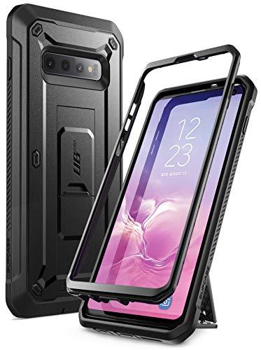 SupCase Hülle für Samsung Galaxy S10+ Plus Handyhülle Outdoor Case Bumper Schutzhülle Robust Cover [Unicorn Beetle Pro] OHNE Displayschutz mit Gürtelclip und Ständer 2019 Ausgabe (Schwarz)