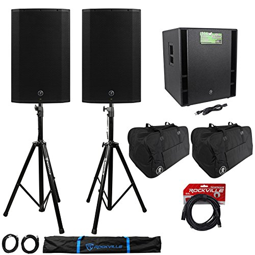 top 10 mackie thump 18s (2) Mackie Thump15A 15 inch active DJPA speaker + Thump18s subwoofer + stand + cable