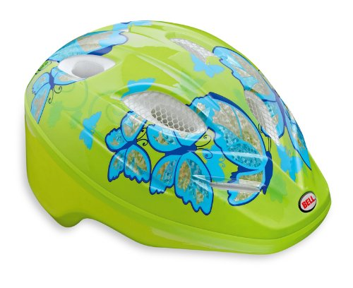 Bell Kinder Fahrradhelm Splash, Pale Green/light Blue Buttrflies, 46-50