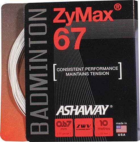 ASHAWAY Badminton-Besaitung Zymax 67 Set, Weiß/Rot, 9 m