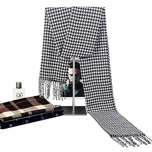 Bufandas para mujer bufanda Bufanda para hombre Bufanda nueva de invierno Bufanda a cuadros para hombre cálido de estilo caliente-w3-15#_190*30cm