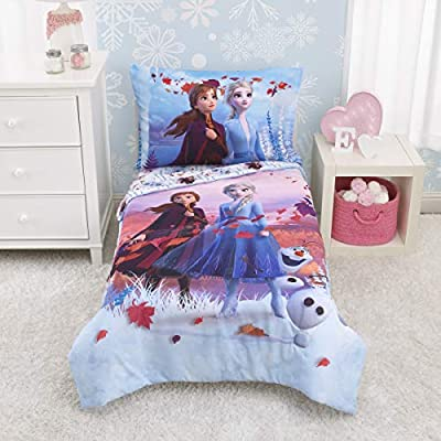 Frozen 2 Toddler Bed Set 4 Piece - Lavender, Plum and White
