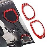 Car Top Roof Speaker Frame Trim Cover for 2018-2021 Jeep Wrangler JL JLU Gladiator JT (Red)