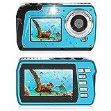 Appareil Photo Etanche 2.7K Appareil Photo étanche 48 MP Appareil Photo Numérique HD Double écran TFT Affiche Selfie caméra étanche avec Flash