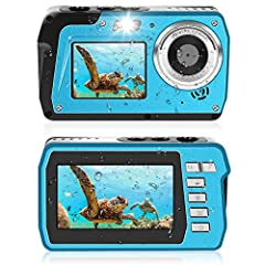Onderwatercamera 2,7 K Onderwatercamera 48 MP Camera Waterdicht HD Dual Screen TFT toont de selfie onderwatercamera Digitaal Waterdicht met flitslicht*
