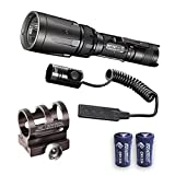 Combo: Nitecore SRT7GT Flashlight - 1000 Lumens -XP-L Hi V3 w/RSW1 Pressure Switch, GM02 Gun Mount +2x FREE Eco-Sensa CR123A Batteries