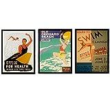 Nacnic Poster Jahrgang. Alte Plakate mit Anzeigen. Vintage