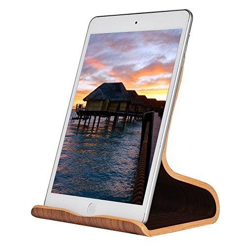 Tablet Ständer, SAMDI für iPad Ständer : Universal Halter, Halterung, Dock für iPad Pro 10.5 / 9.7, iPad Air 2 3 4, iPad mini 1 2 3 4, Google Nexus andere Tab Smartphone (Schwarze Walnuss)