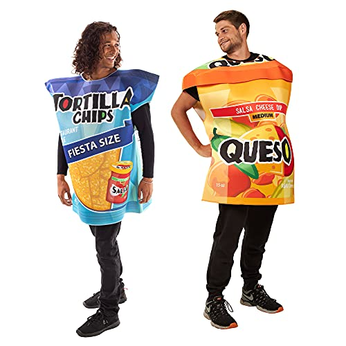 Tortilla Chips & Queso Jar Halloween Couples Costumes - Cute Funny Food Outfits