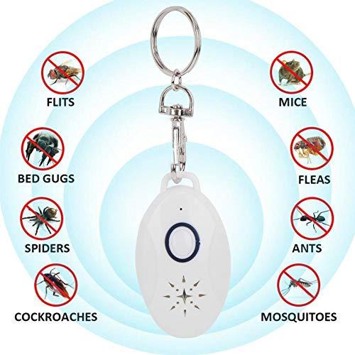 Repellente per parassiti ad ultrasuoni portatile, repellente per mouse elettronico ricaricabile, repellente per interni elettromagnetico e ionico per zanzare, scarafaggio, ratto, cimice, ragno, formic