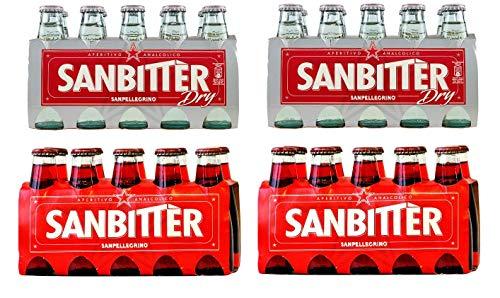 Sanbitter Aperitif Italien 20 x 100 ml + San bitter dry Weiss Aperitif Italien 20 x 100 ml