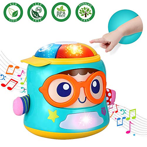 Infant Toys Tumbler Soother Baby Musical Toys for 6 12 18 Month Old Boys and Girls with Lights Sounds and Songs Baby Educational Learning Toy for 1 Year Old Early Development Games