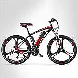Bici electrica, Adulto 26 pulgadas Montaña Bicicleta eléctrica for hombre, 27 Bicicleta eléctrica de alta velocidad, bicicletas eléctricas de 250 vatios, batería de litio de 36V, ruedas integradas de
