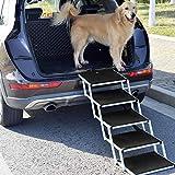 Snagle Paw Portable Dog Car Step Stairs, Accordion Aluminum Frame Folding Pet...