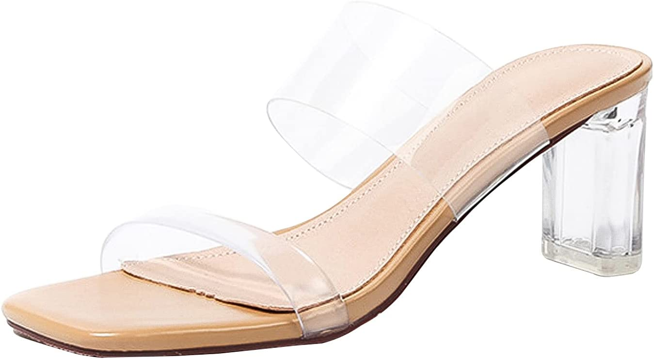 QINZO Summer Women's Outdoor low-pricing High-Heeled Large Tr Sandals Cheap super special price Size