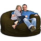ULTIMATE SACK 6000 Bean Bag Chair: Giant Foam-Filled Furniture - Machine Washable Covers, Double Stitched Seams, Durable Inner Liner, and 100% Virgin Foam. Comfy Bean Bag Chair. (Cloud, Suede)