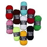Pack de 10 Madejas Hilo de tejer/Hilo Acrilico - Perfecto para Crochet y Tejer -...