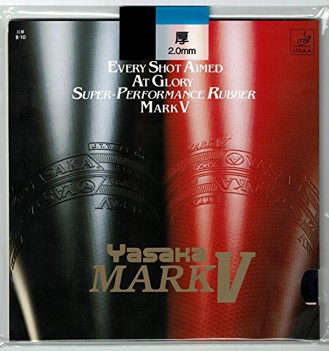 Yasaka Mark V Table Tennis Rubber: Color-Black, Sponge Thickness-1.5 mm