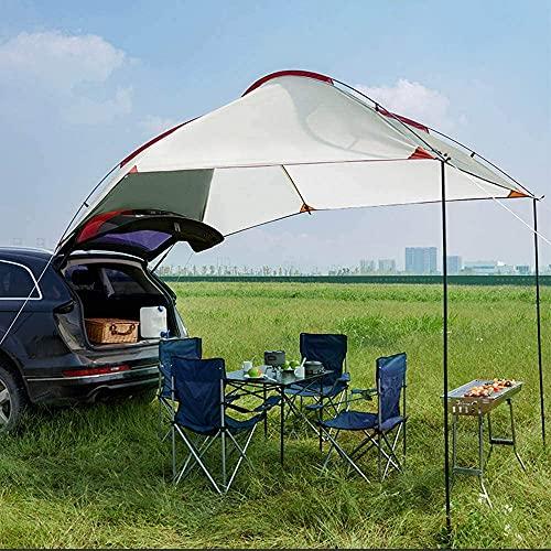 Toldo para Carpa Trasera para Auto De Camping, Toldo Ligero, Carpa Portátil Impermeable con Puerta Trasera Plegable, Adecuada para Varios Modelos