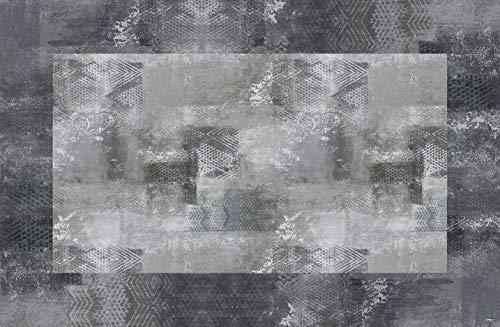 Vilber New Classic Alfombra, Vinilo, Gris, 100x153x0.2cm