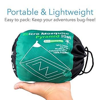 Moustiquaire de Camping avec Sac de Transport, Compacte et Légère, Convient aux Sacs de Couchage, Lits et Tentes (1 Place)