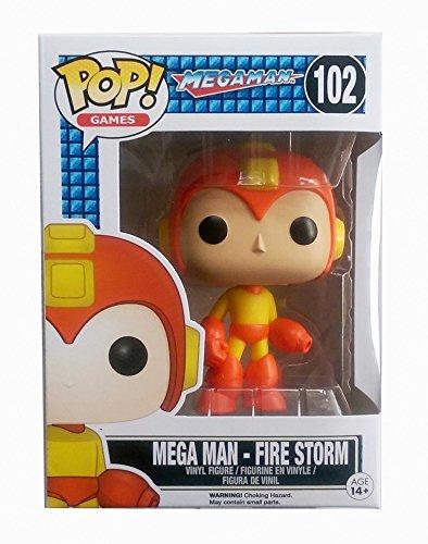 Funko Pop Games Mega Man Fire Storm Exclusive Variant Vinyl Figure by Megaman
