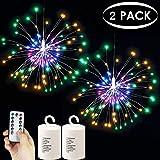 Fuochi d'artificio a batterie, Batteria, colorata, 120 LED, confezione da 2, 2 Pack