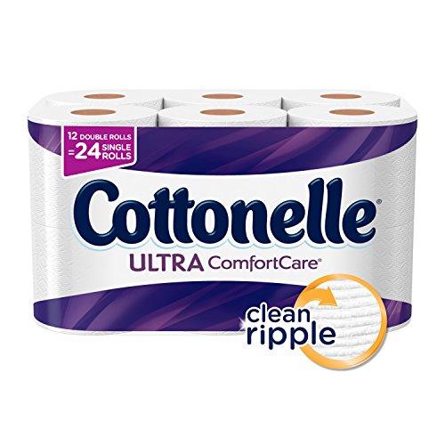 Cottonelle Ultra ComfortCare Toilet Paper, Bath Tissue, 12 Double...