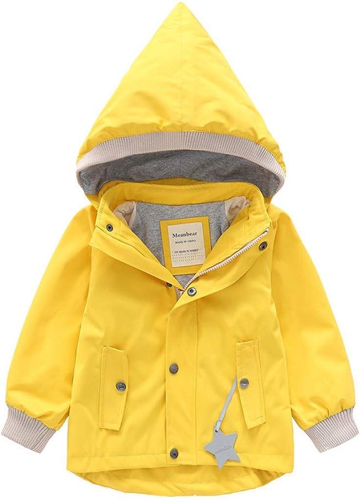 WOCACHI Little Girls Raincoat Kids Sale Special Price Jac Cartoon Miami Mall Plush Waterproof