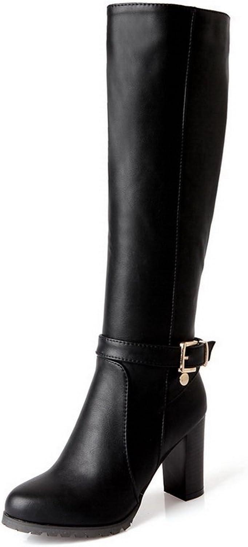 AdeeSu Womens Casual Buckle Comfort Urethane Boots SXC01907