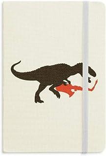 ديناصور الموسيقى ساكسفون يعزف دفتر الملاحظات النسيج الرسمي الغلاف الصلب يوميات يوميات يوميات يوميات كلاسيكية