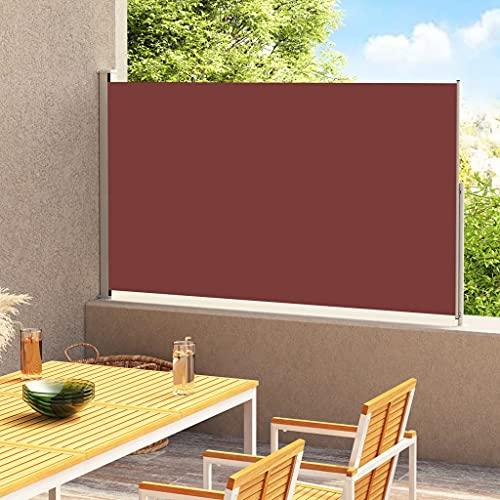 LUYIPINGQIWND Color: Marrón y Gris Toldo Lateral retráctil de jardín marrón 180x300 cm
