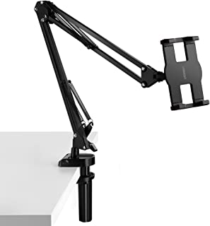 UGREEN Tablet Mount Lazy Holder Adjustable Long Arm Clamp Compatible for iPad Air Pro Mini, iPhone 11 Pro Max SE X 8 7 6 6S, Samsung Galaxy S9 Plus S8, Nintendo Switch, Max 12.9 Inch Cell Phone Tablet