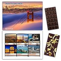 "DA CHOCOLATE キャンディ スーベニア ""サンフランシスコ"" SAN FRANCISCO チョコレートセット 7,2×5,2一箱 (DARK Orange Cedar Mint)"