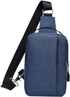bolsa de pecho de alta capacidad para hombres y mujeres de lona de los hombres de los hombres bolsas de mensajero casual b...